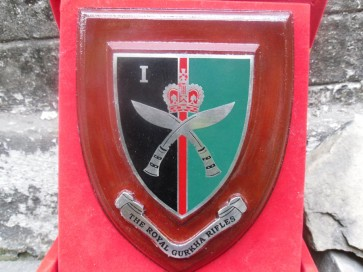 1st Btn Royal Gurkha Rifles Plaque