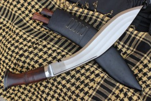 13 INCH HAND FORGED BUSHCRAFT BLADE 3 FULLERS KUKRI KNIFE